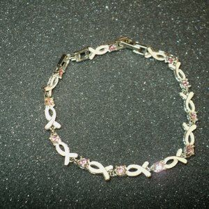 "Vintage Avon Breast Cancer Hope Crusade Tennis Bracelet 8"""
